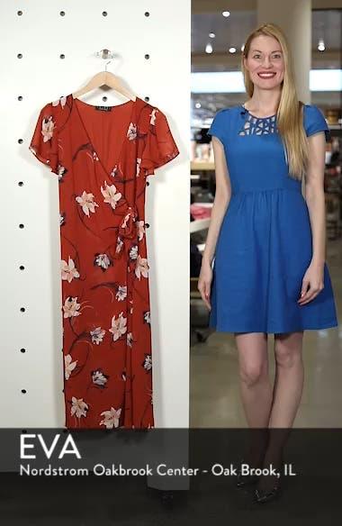 Floral Surplice Midi Dress, sales video thumbnail