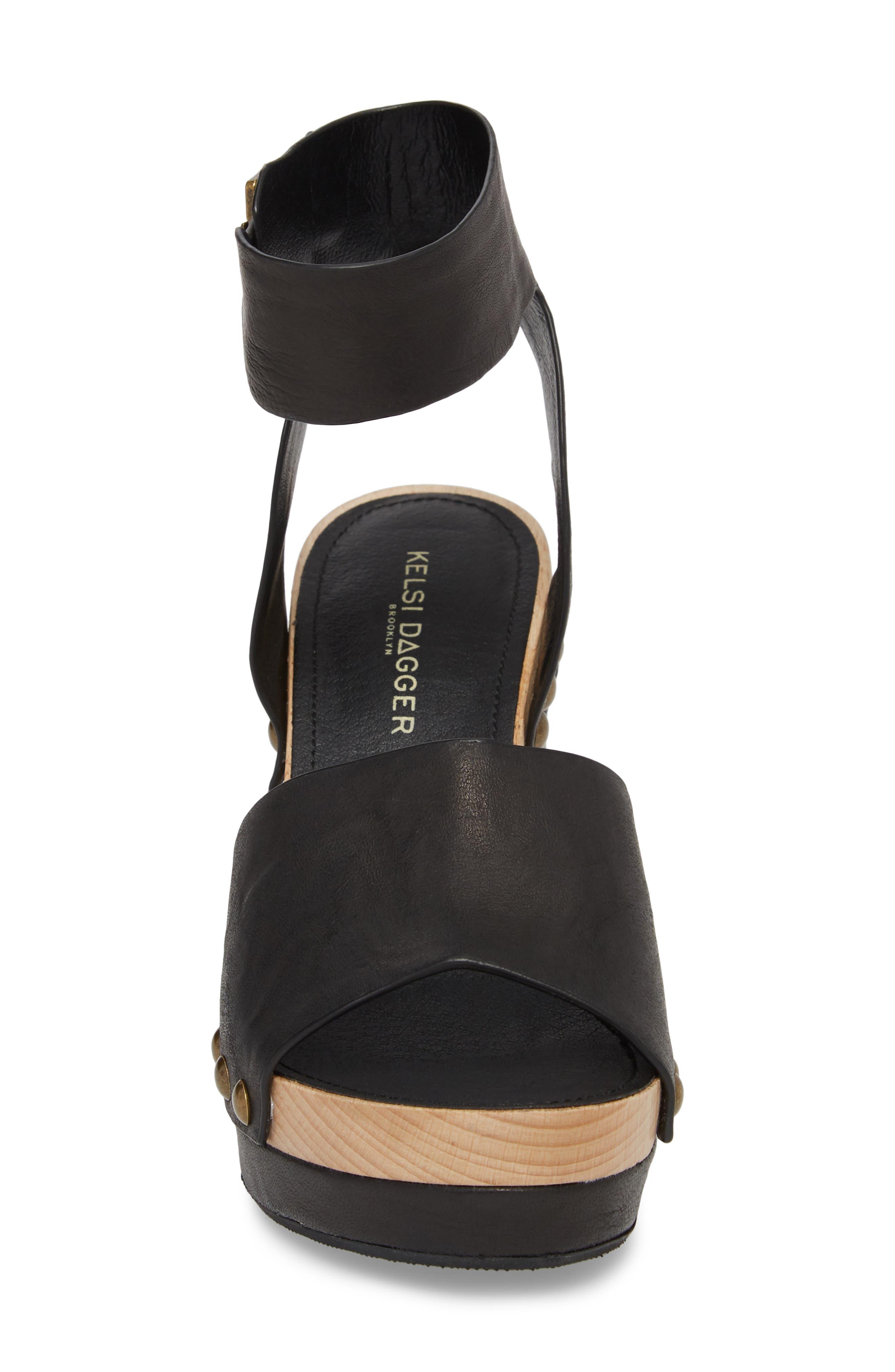 ,                             Farris Platform Sandal,                             Alternate thumbnail 4, color,                             001