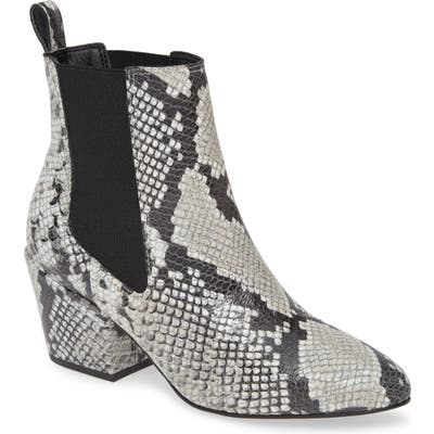 Matisse Morgan Snake Embossed Boot, Grey