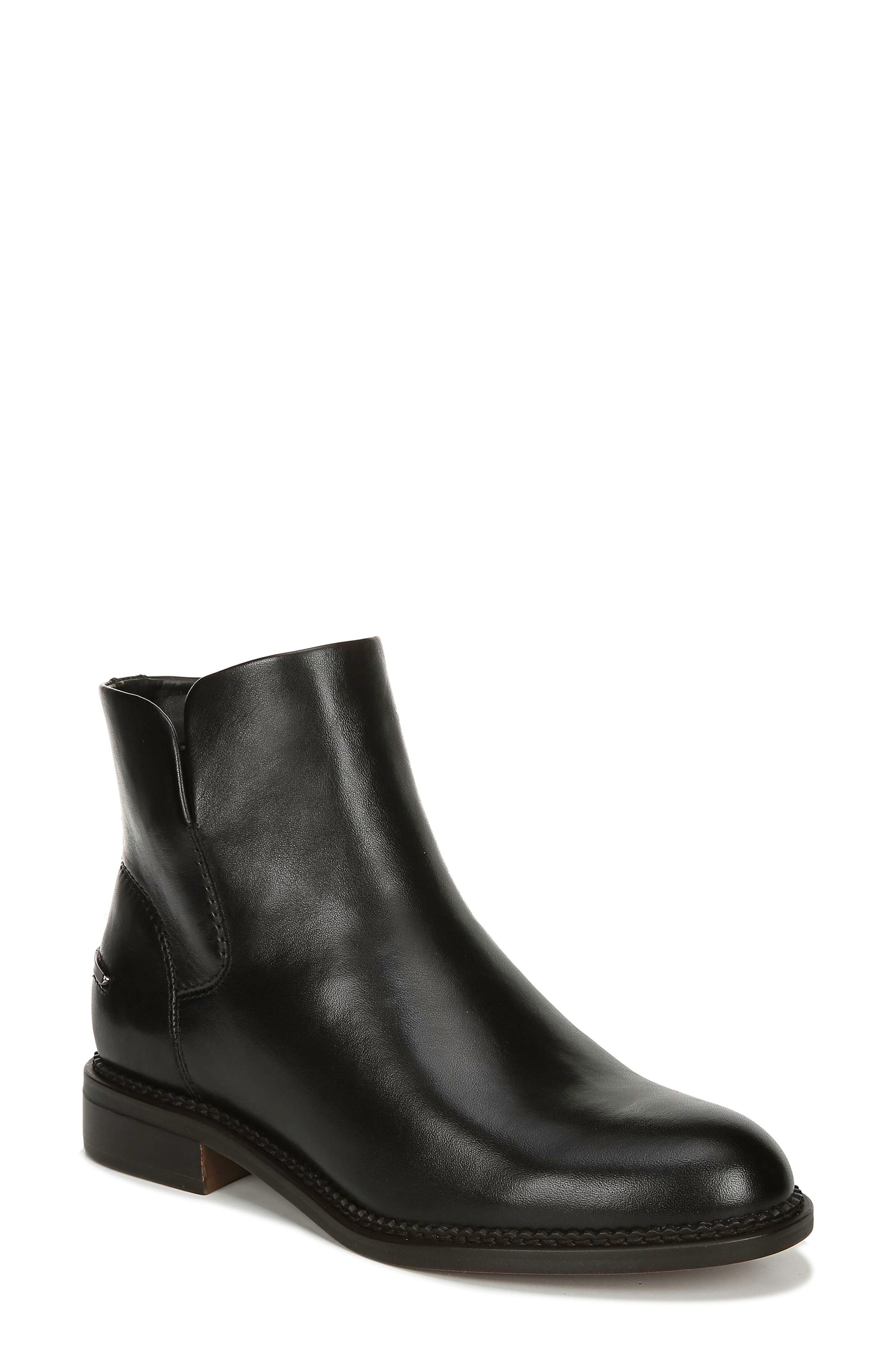 Image of Franco Sarto Happily Leather Ankle Bootie