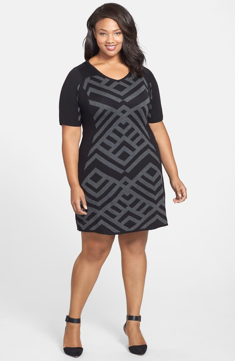 GABBY SKYE Sweater Dress, Main, color, 002