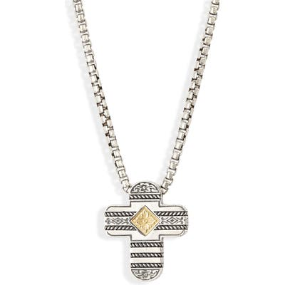 Konstantino Perseus Cross Pendant Necklace