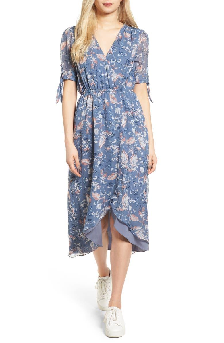 ELLA MOSS Dreamer Wildflower Silk Dress, Main, color, 429