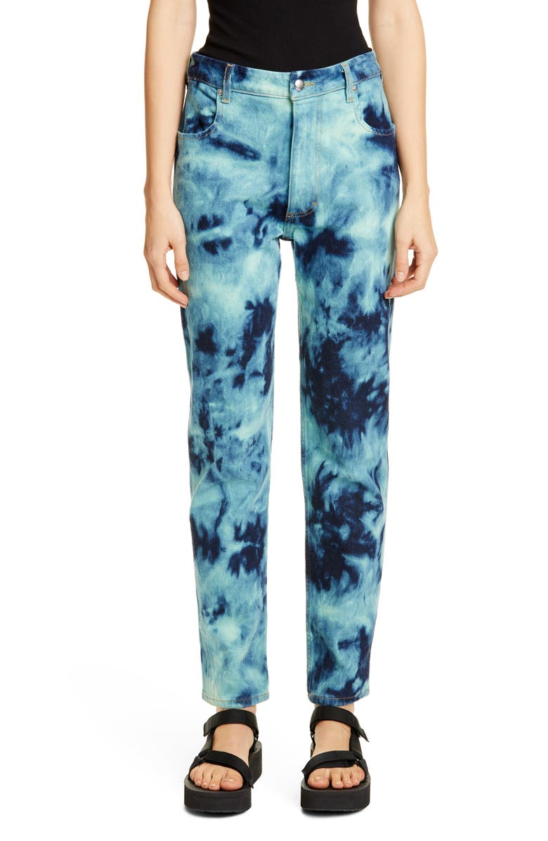 ECKHAUS LATTA EL Tie Dye Jeans, Main, color, 400