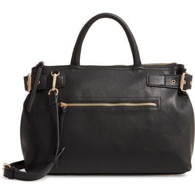 Sole Society Dael Faux Leather Satchel - Black