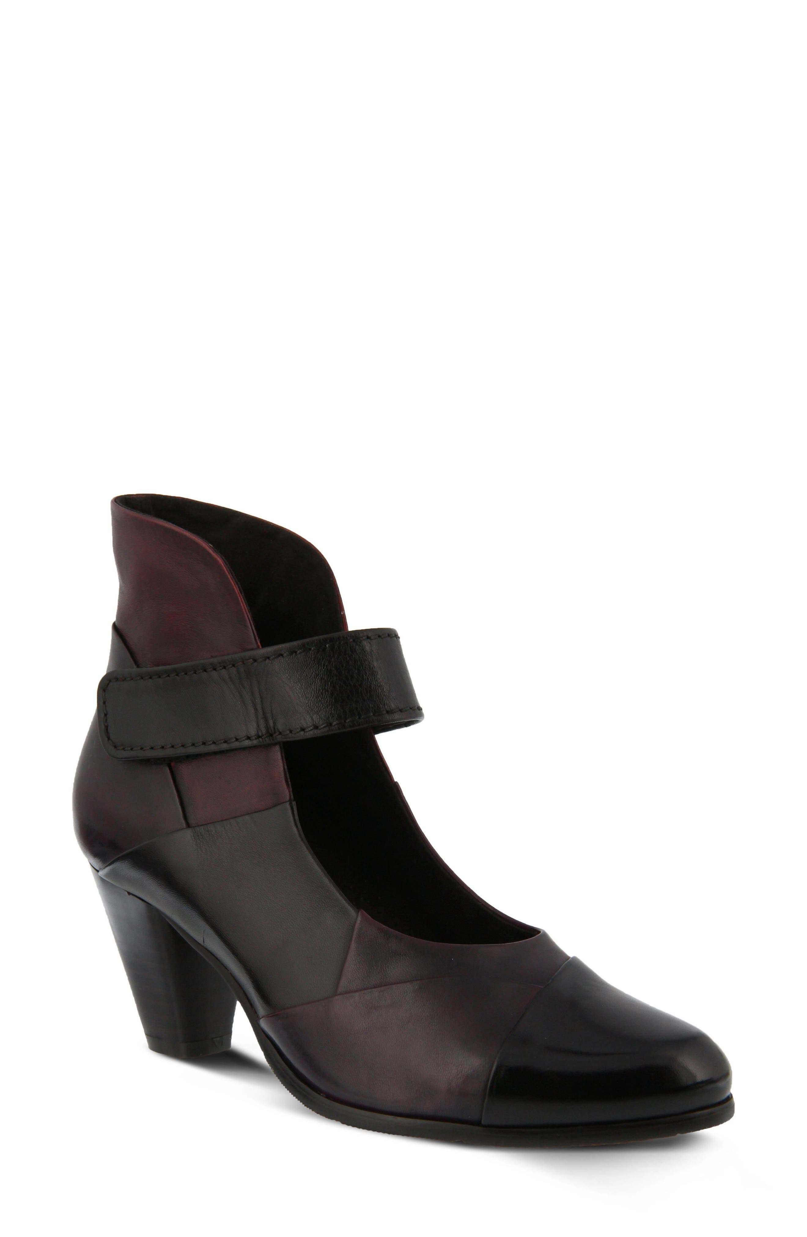 Spring Step Chapeco Patchwork Ankle Strap Pump - Brown