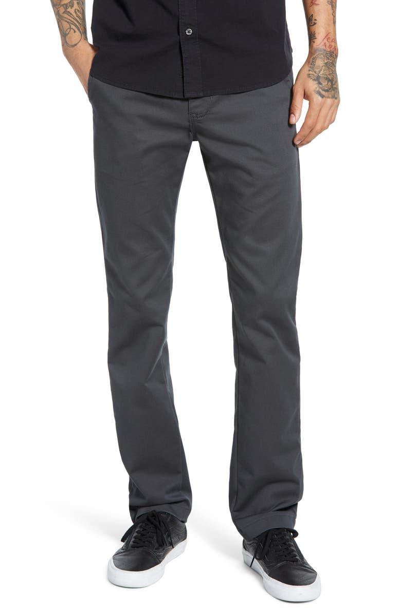 VANS Authentic Slim Fit Stretch Chinos, Main, color, ASPHALT
