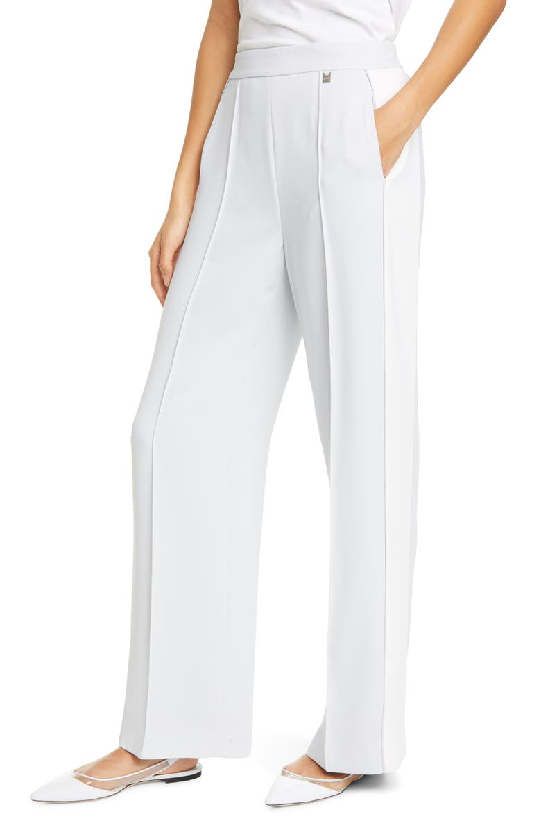 TED BAKER LONDON Clarpa Contrast Panel Wide Leg Pants, Main, color, IVORY