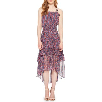 Parker Amethyst Silk High/low Dress, Blue