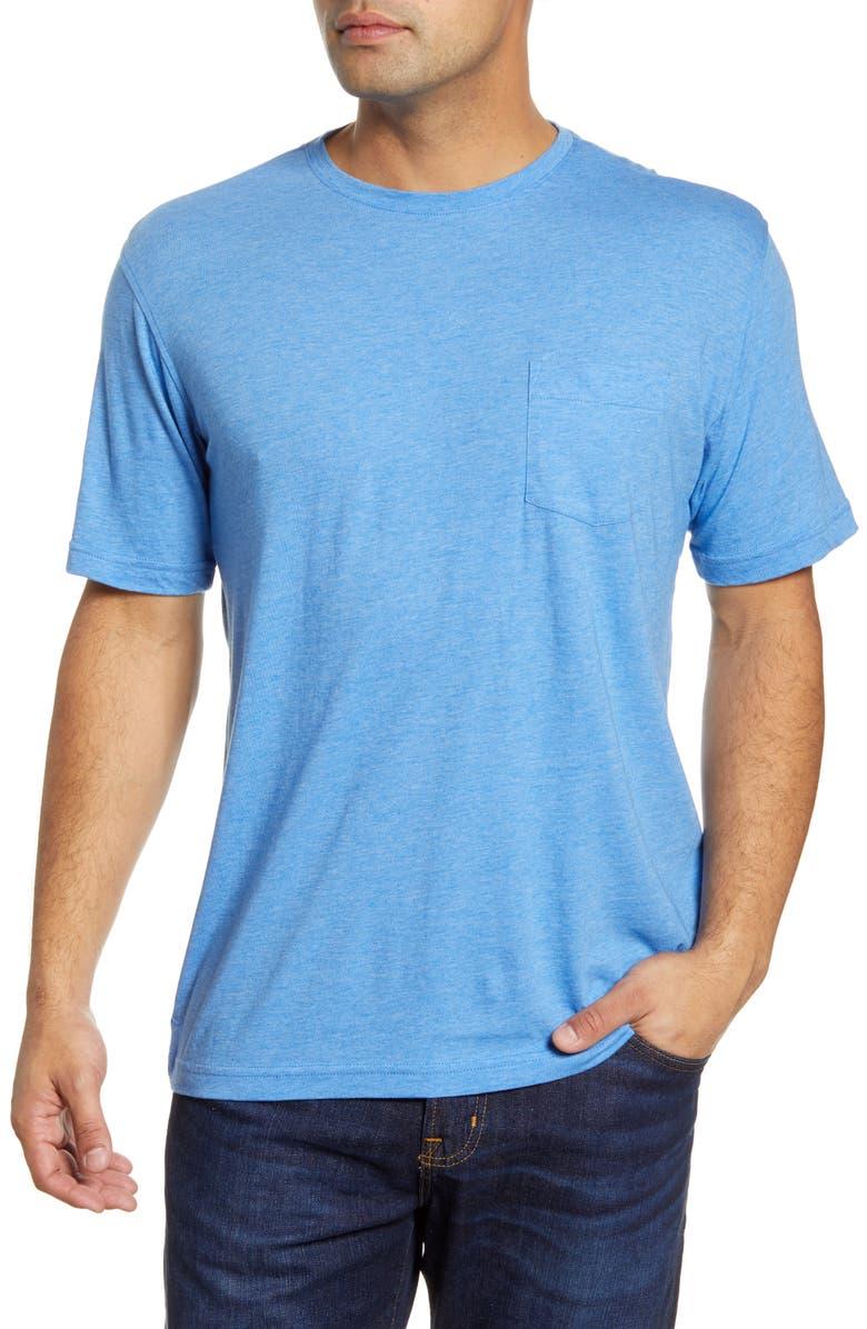 PETER MILLAR Pocket T-Shirt, Main, color, LAZULINE