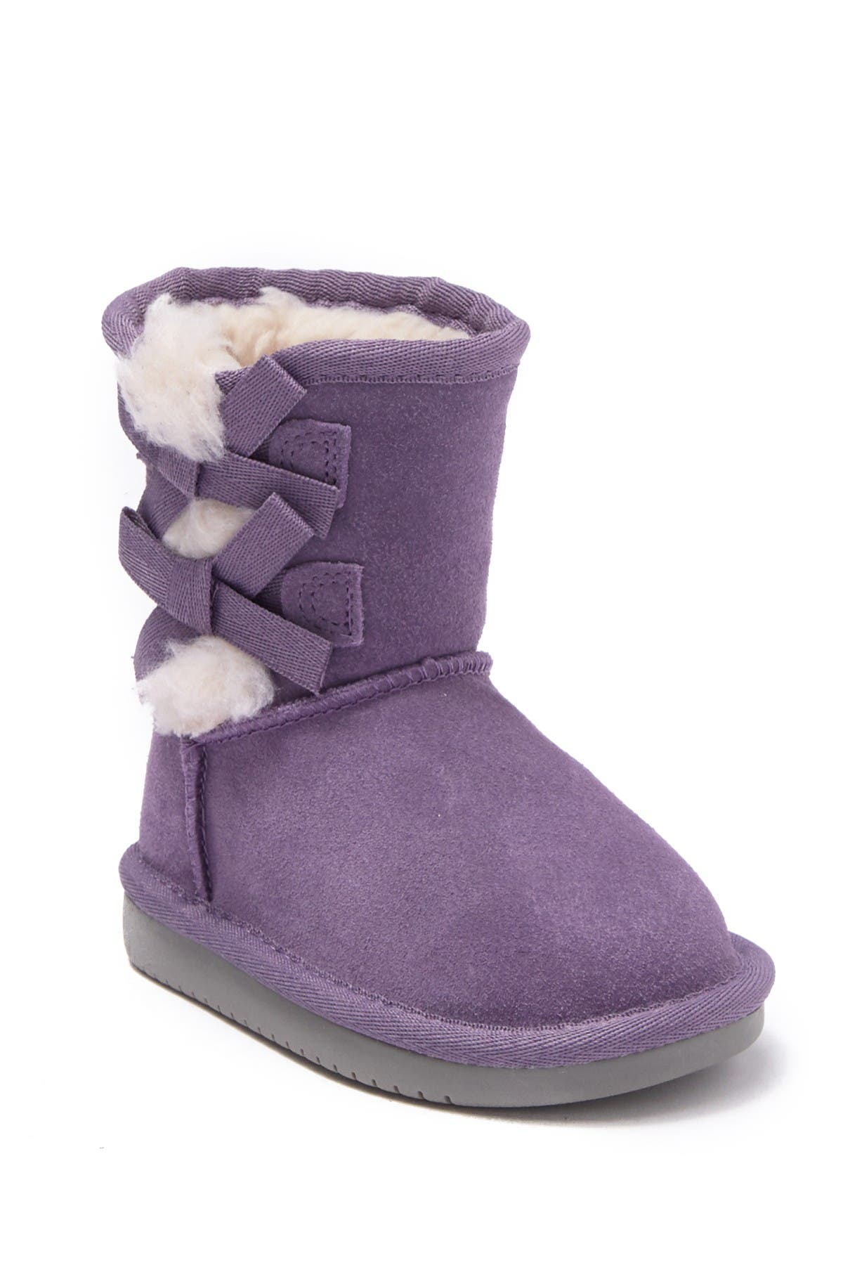 Image of KOOLABURRA BY UGG Victoria Bow Faux Fur & Genuine Sheepskin Trimmed Short Boot