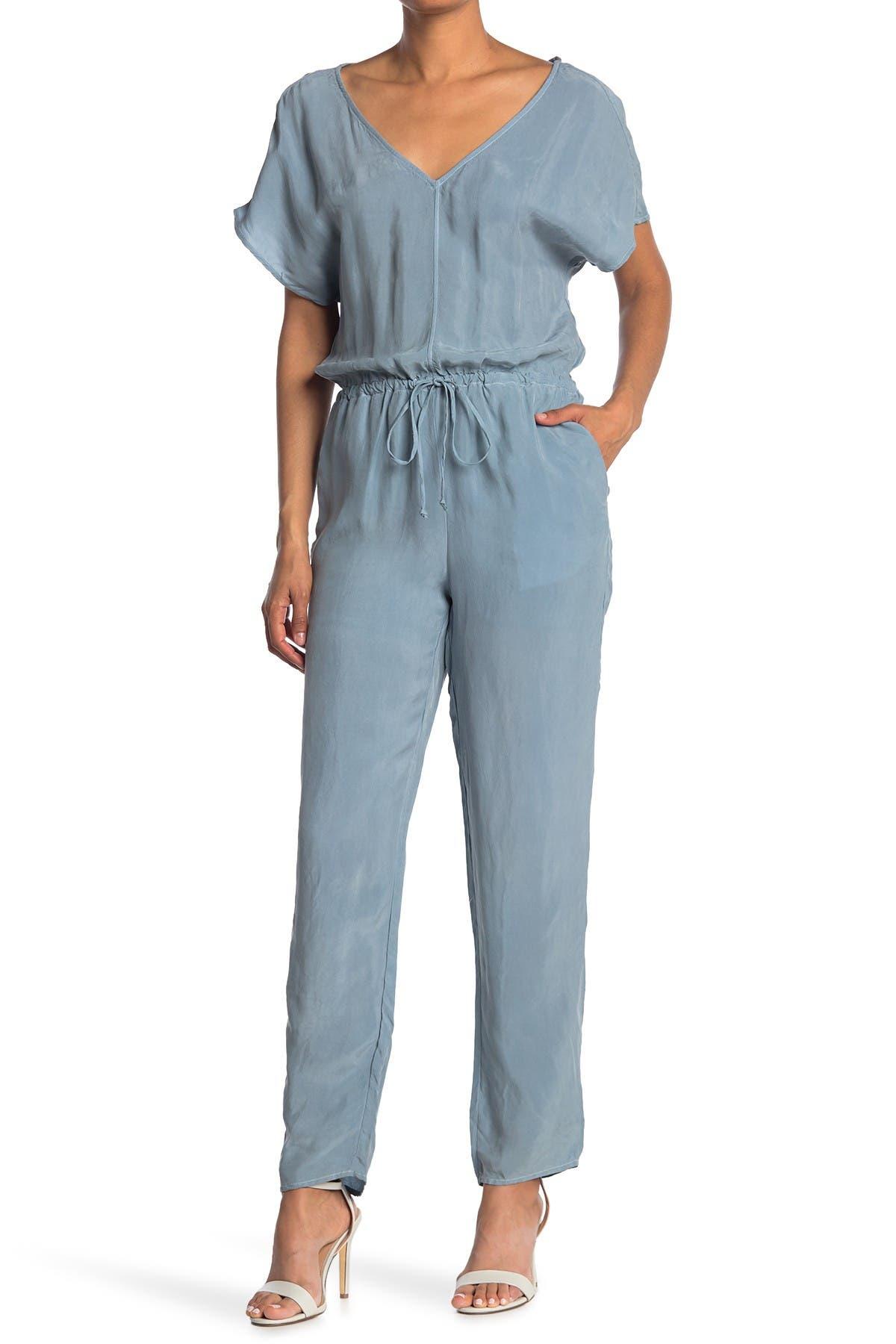 Image of Stateside Cupro Short Sleeve Jumpsuit