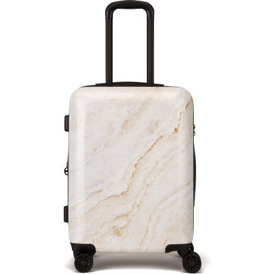 Calpak Gold Marble 22-Inch Rolling Spinner Carry-On - Metallic