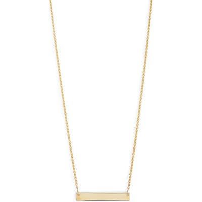 Bony Levy 14K Gold Bar Pendant Necklace (Nordstrom Exclusive)