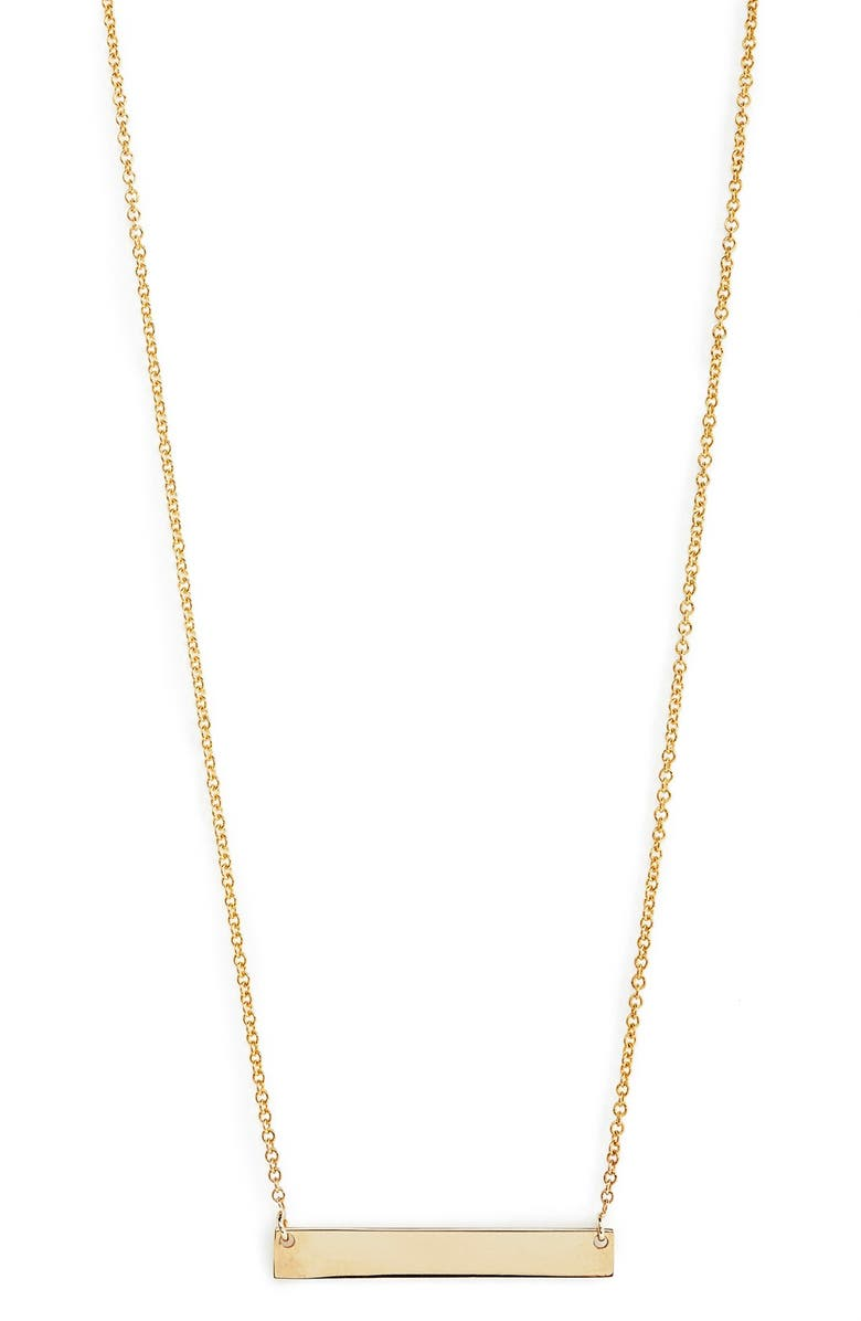 BONY LEVY 14K Gold Bar Pendant Necklace, Main, color, YELLOW GOLD