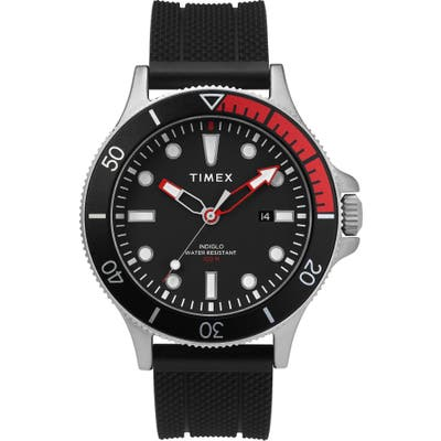Timex Allied Silicone Strap Watch, 4m