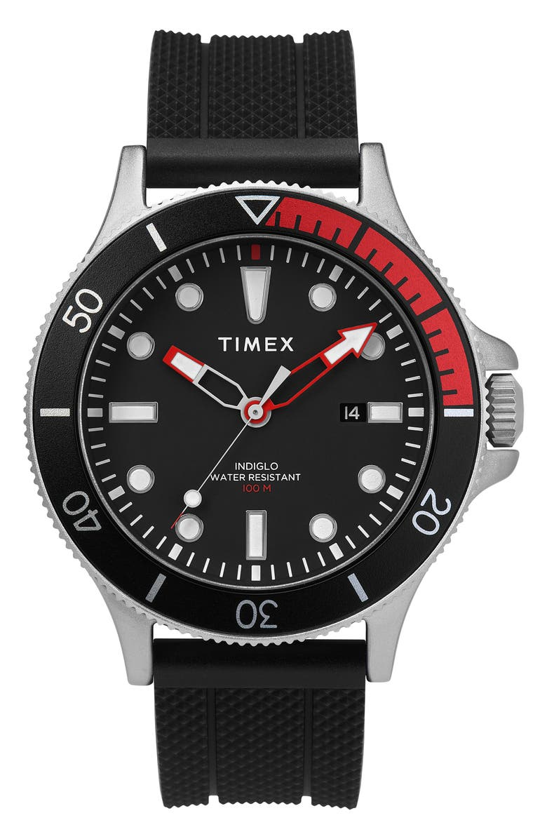 Timex Allied Silicone Strap Watch 43mm