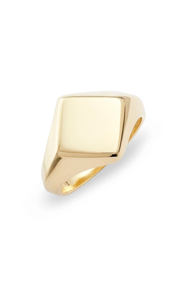 ARGENTO VIVO STERLING SILVER Argento Vivo Rhombus Signet Ring, Main, color, GOLD