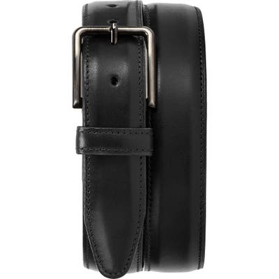 Trask Flint Leather Belt, Black