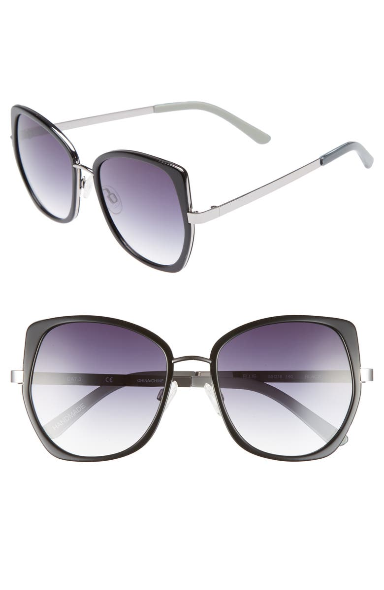 CHELSEA28 Ellie 55mm Sunglasses, Main, color, 001