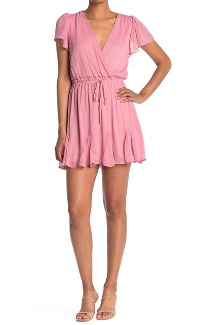 Image of ROW A Flutter Sleeve Godet Dress