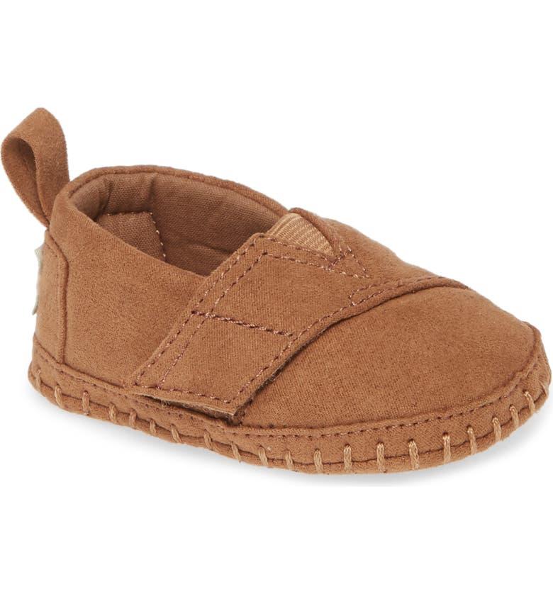 TOMS Alpargata Crib Shoe, Main, color, BROWN