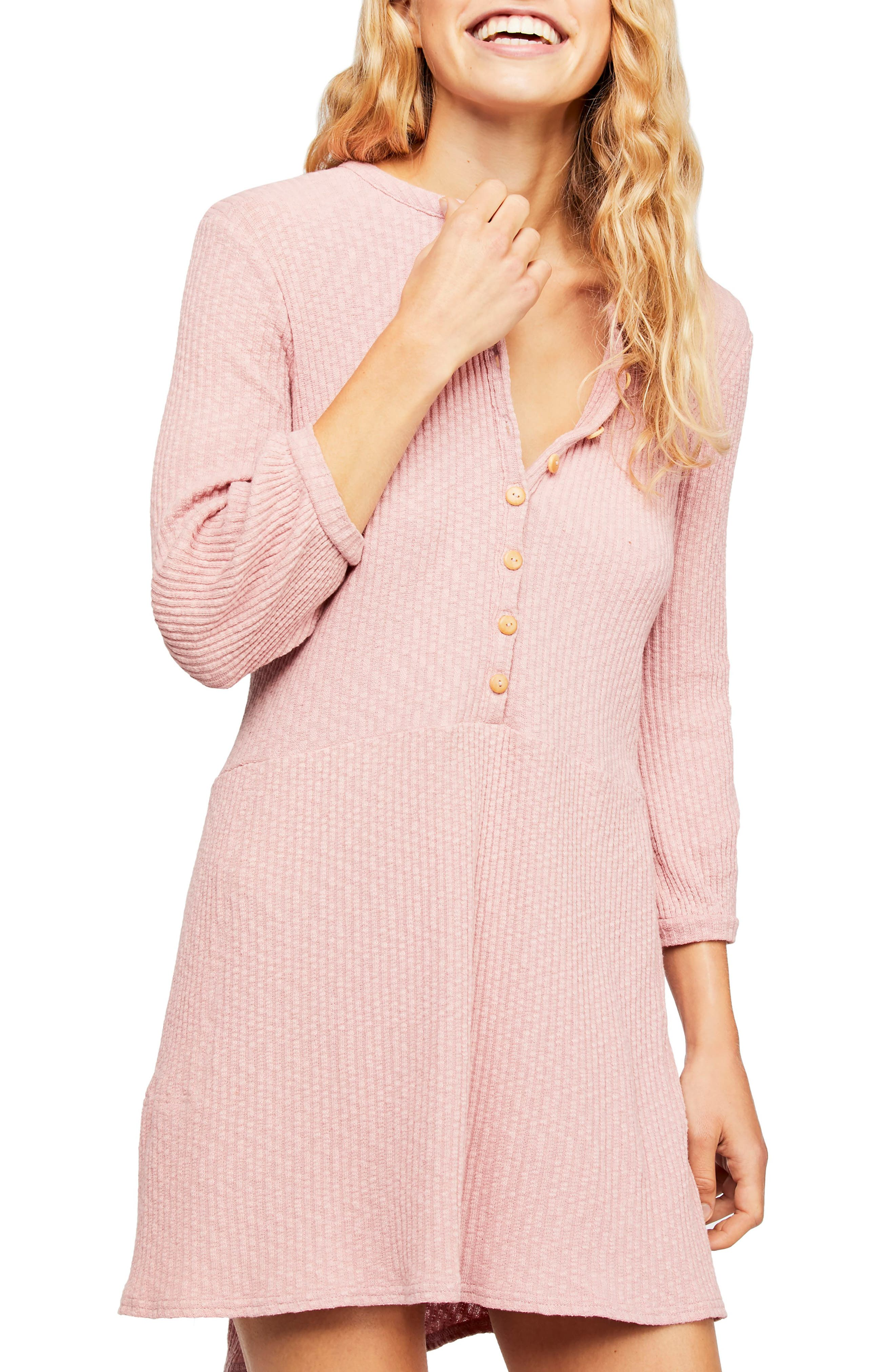 Endless Summer By Free People Blossom Stretch Cotton Dress, Pink