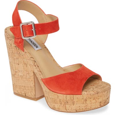Steve Madden Jess Platform Sandal- Orange