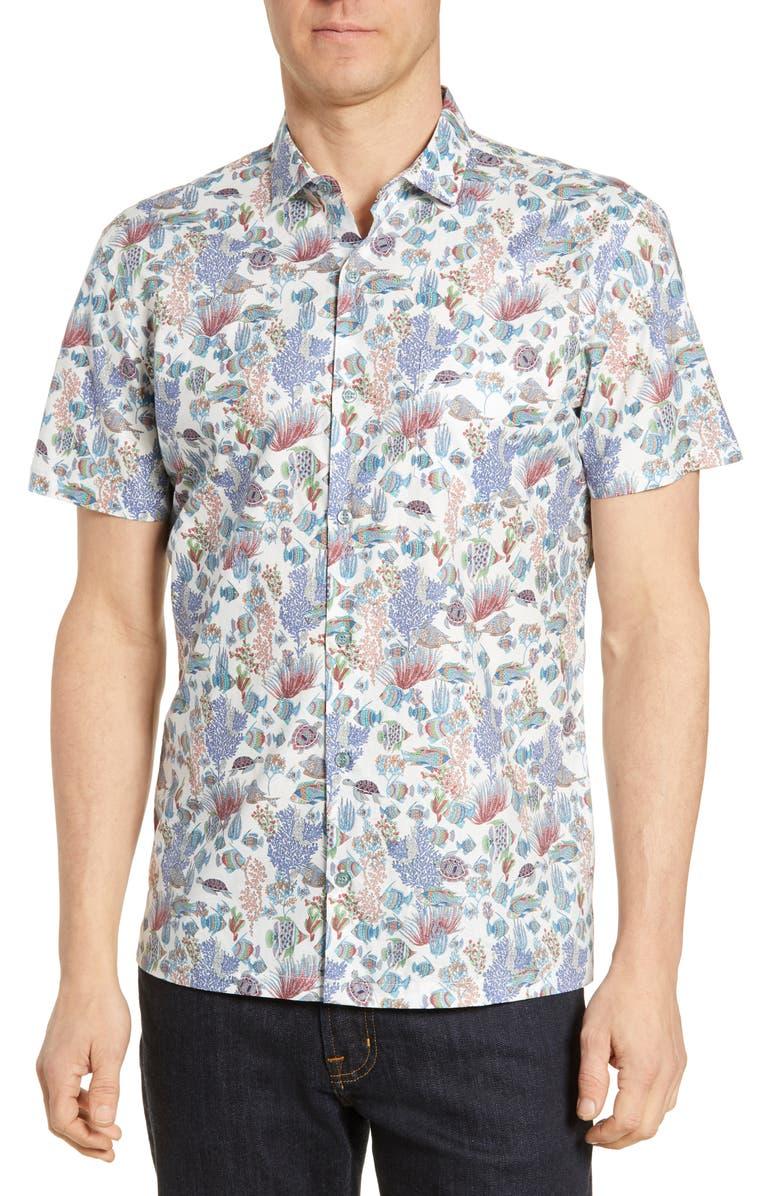 TORI RICHARD Aquaculture Regular Fit Shirt, Main, color, WHITE