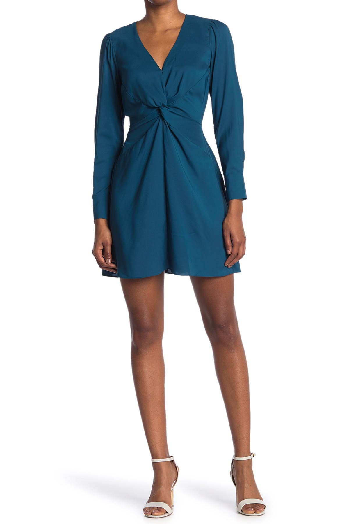 Image of Parker Long Sleeve Knot Front Dress