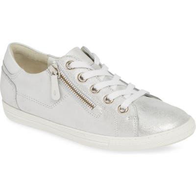 Paul Green Upbeat Metallic Low Top Sneaker, .5UK - Grey