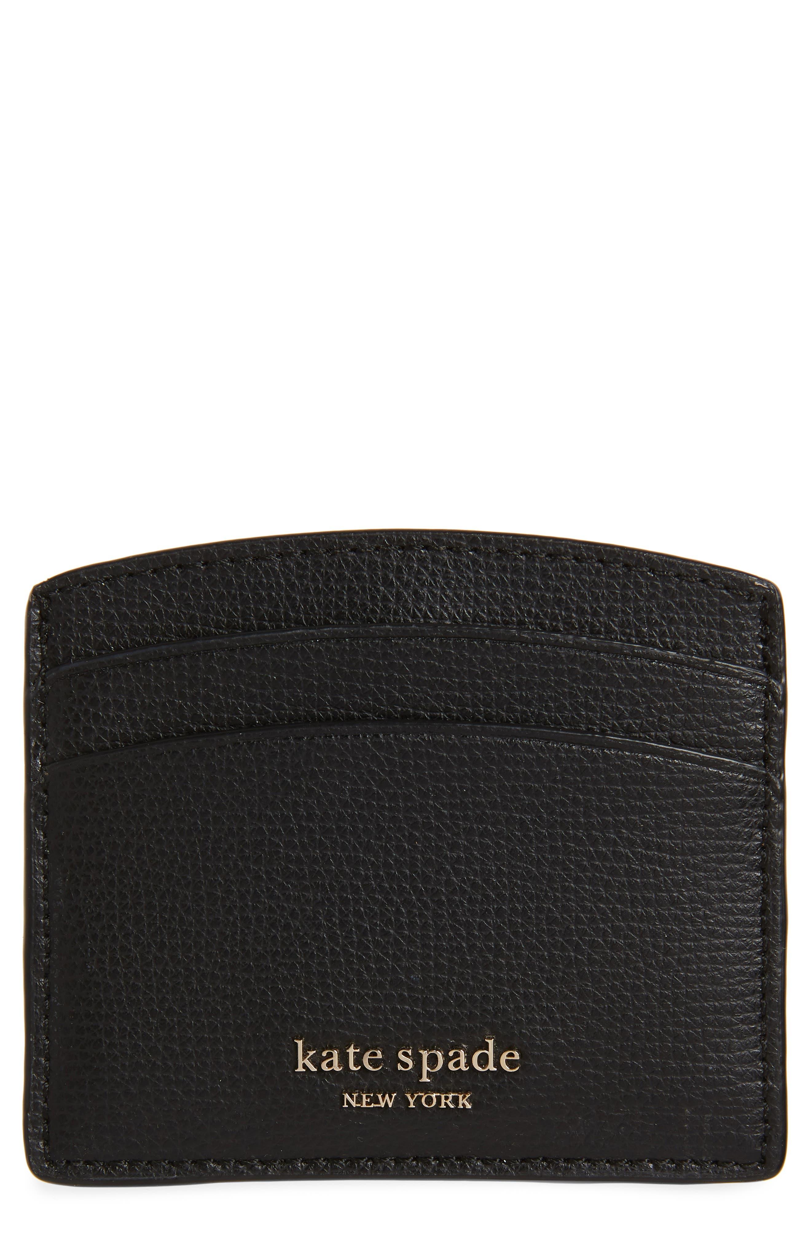 ,                             sylvia card case,                             Main thumbnail 1, color,                             BLACK
