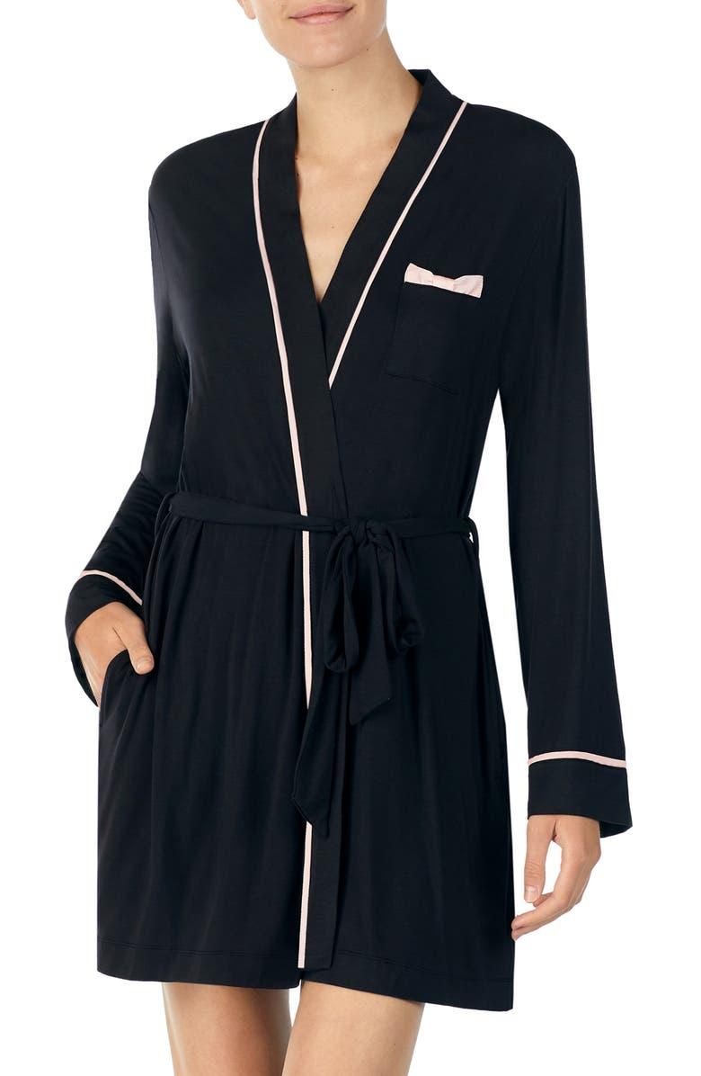 KATE SPADE NEW YORK jersey short robe, Main, color, 001