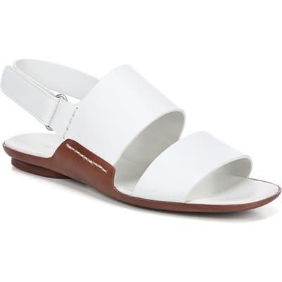 Vince Telsa Flat Sandal, White