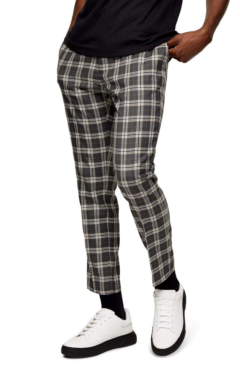 TOPMAN Heritage Check Jogger Pants, Main, color, 020