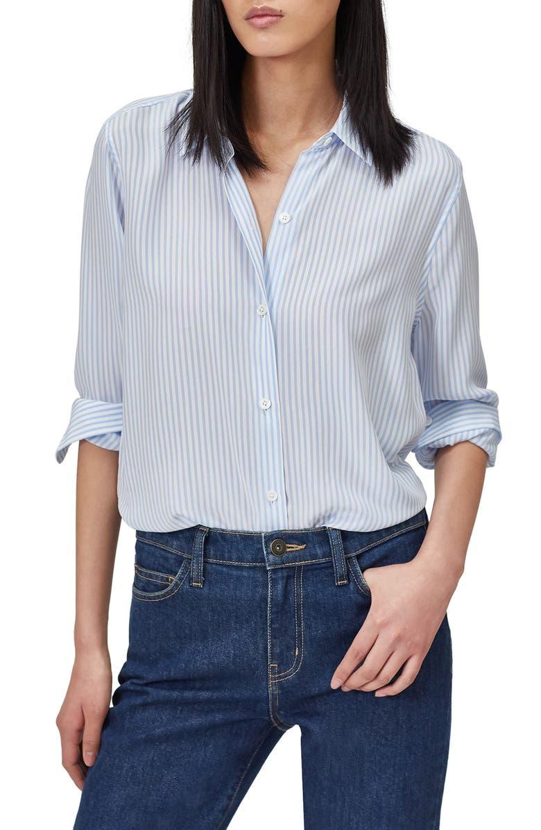 EQUIPMENT Essential Stripe Silk Shirt, Main, color, 105