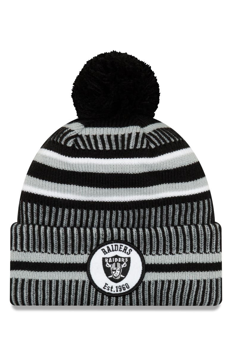 NEW ERA CAP NFL Beanie, Main, color, OAKLAND RAIDERS