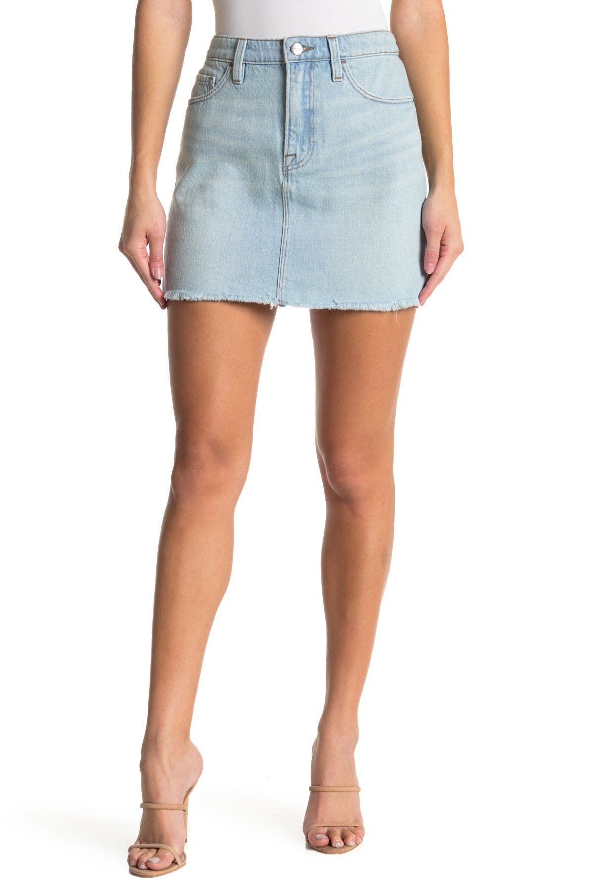 Image of FRAME Le Mini Cargo Mix Denim Skirt