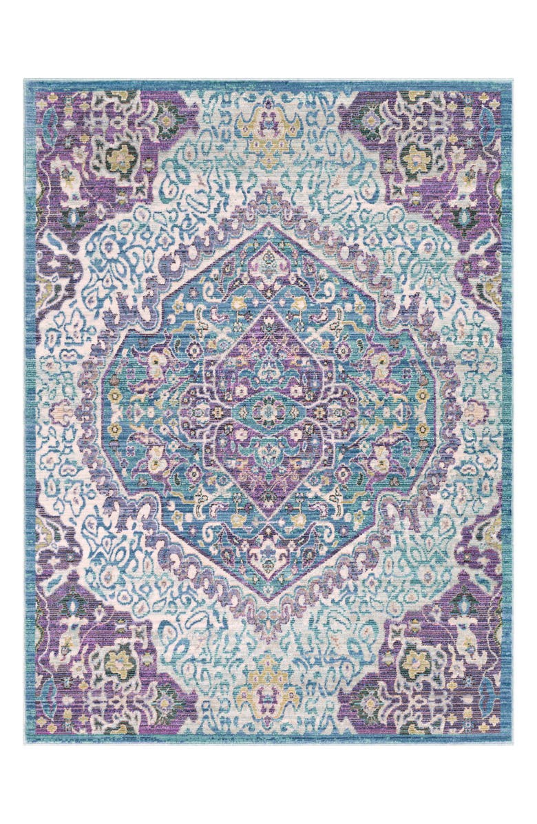SURYA HOME Germili Motif Area Rug, Main, color, BRIGHT PURPLE
