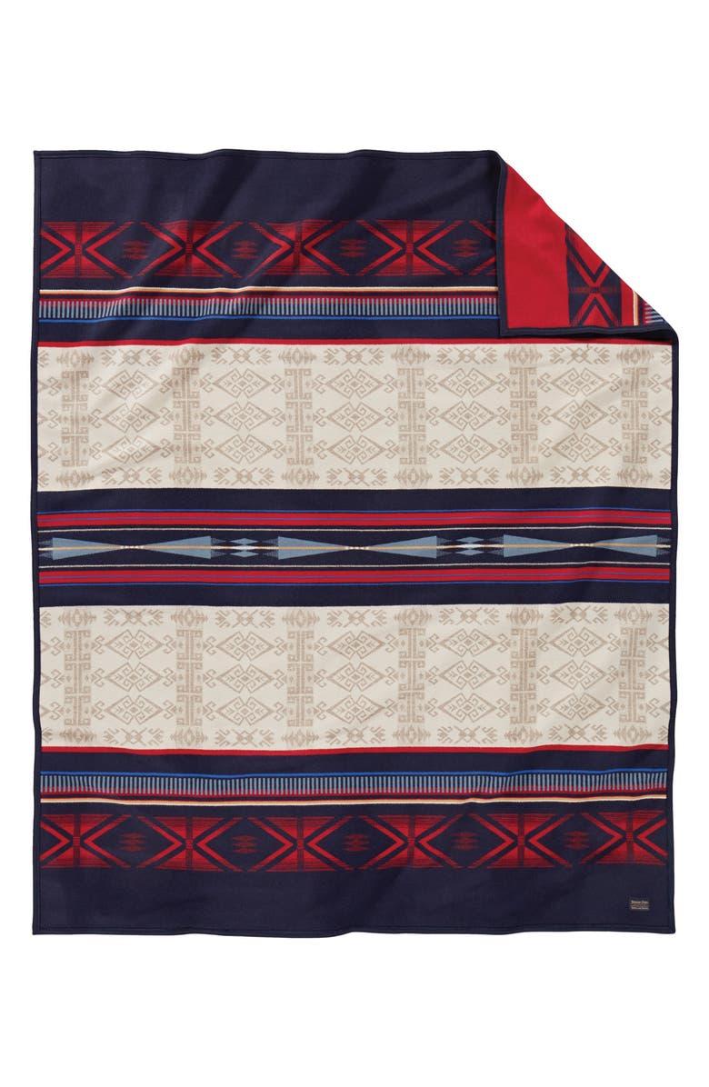 PENDLETON Big Horn Jacquard Robe Blanket, Main, color, BIG HORN