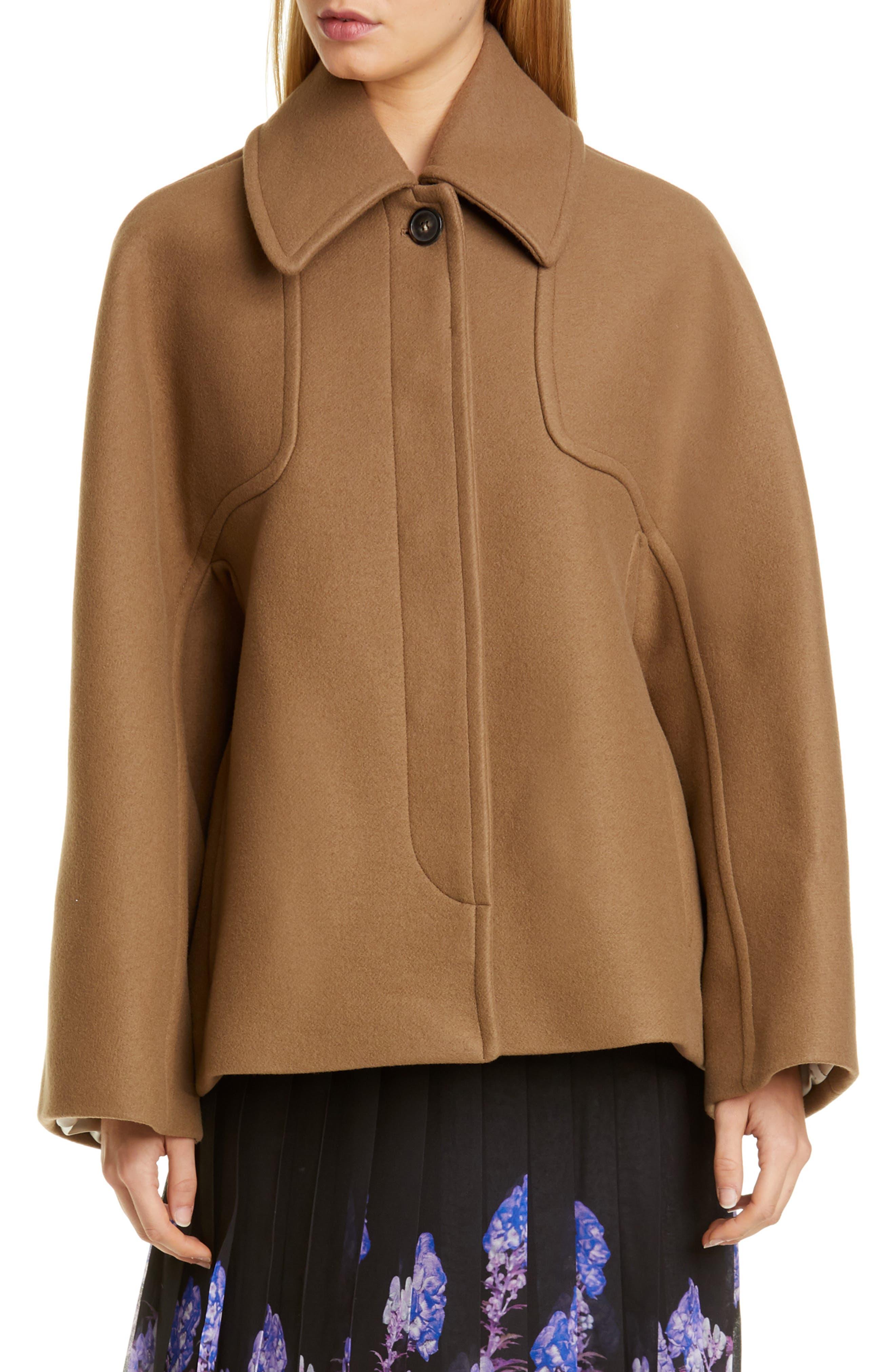 Image of DRIES VAN NOTEN Dolman Sleeve Wool Blend Jacket