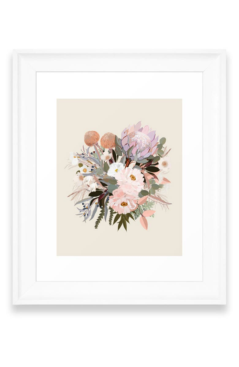 DENY DESIGNS Antonia I Art Print, Main, color, WHITE FRAME