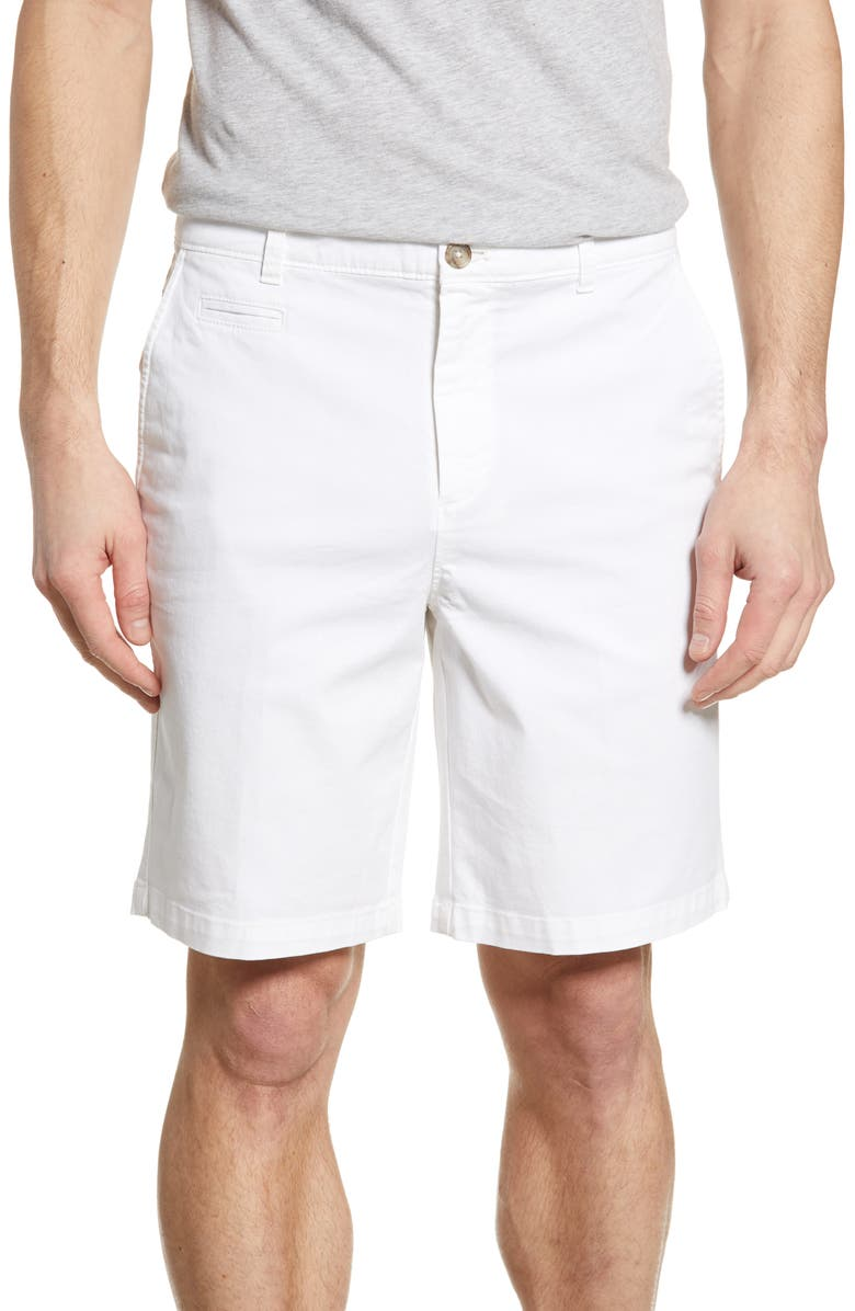 JOHNNIE-O Neal Stretch Twill Shorts, Main, color, WHITE