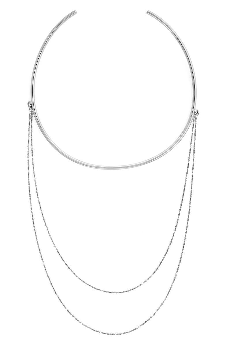 VINCE CAMUTO Double Chain Collar Necklace, Main, color, 040