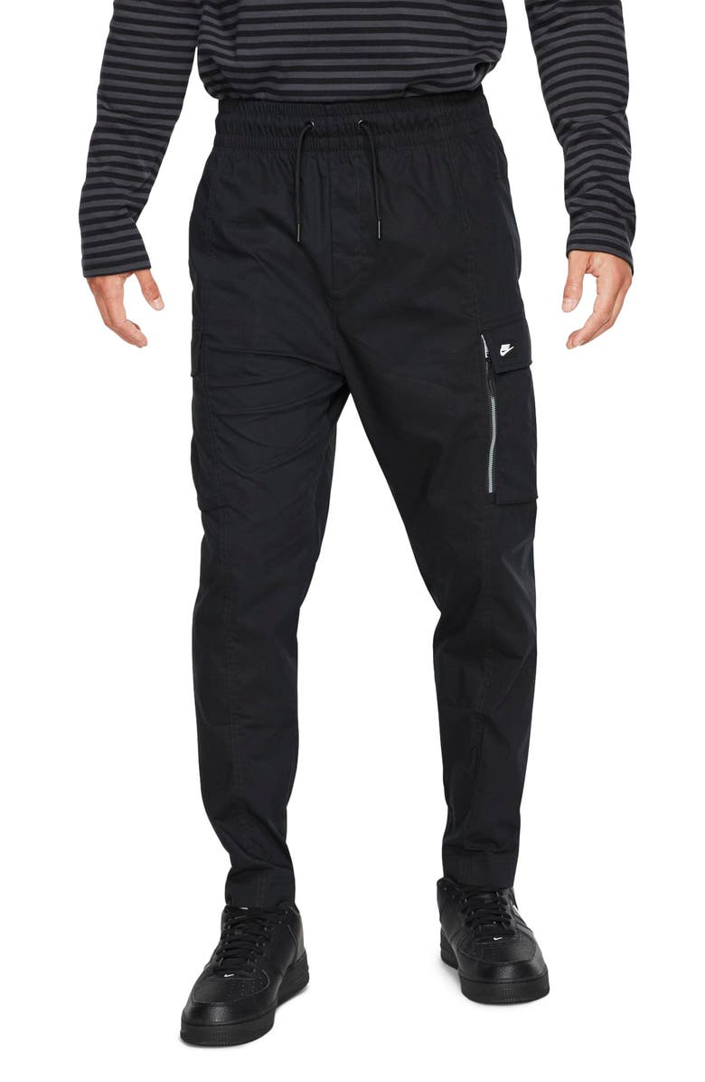 NIKE Street Cargo Pants, Main, color, BLACK