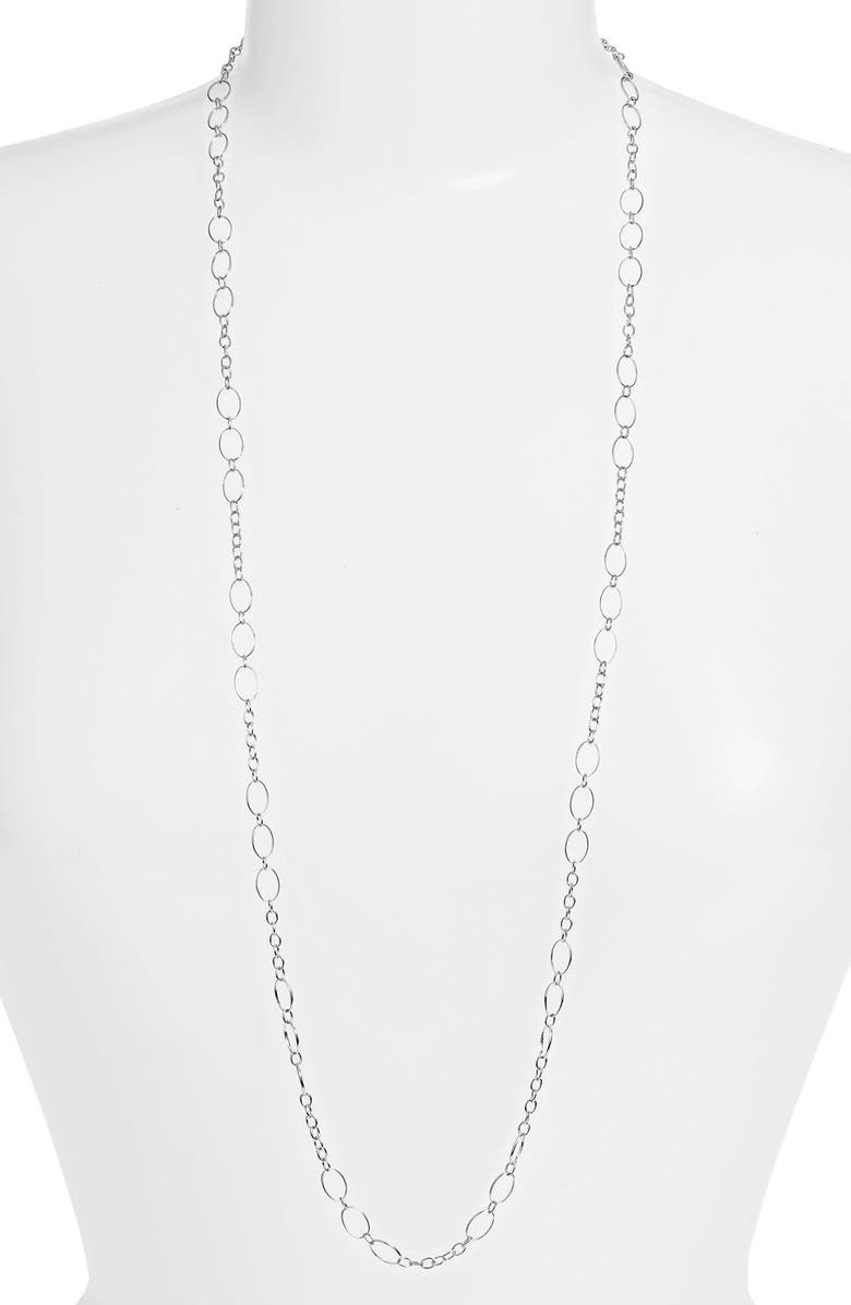 Argento Vivo Long Layering Chain