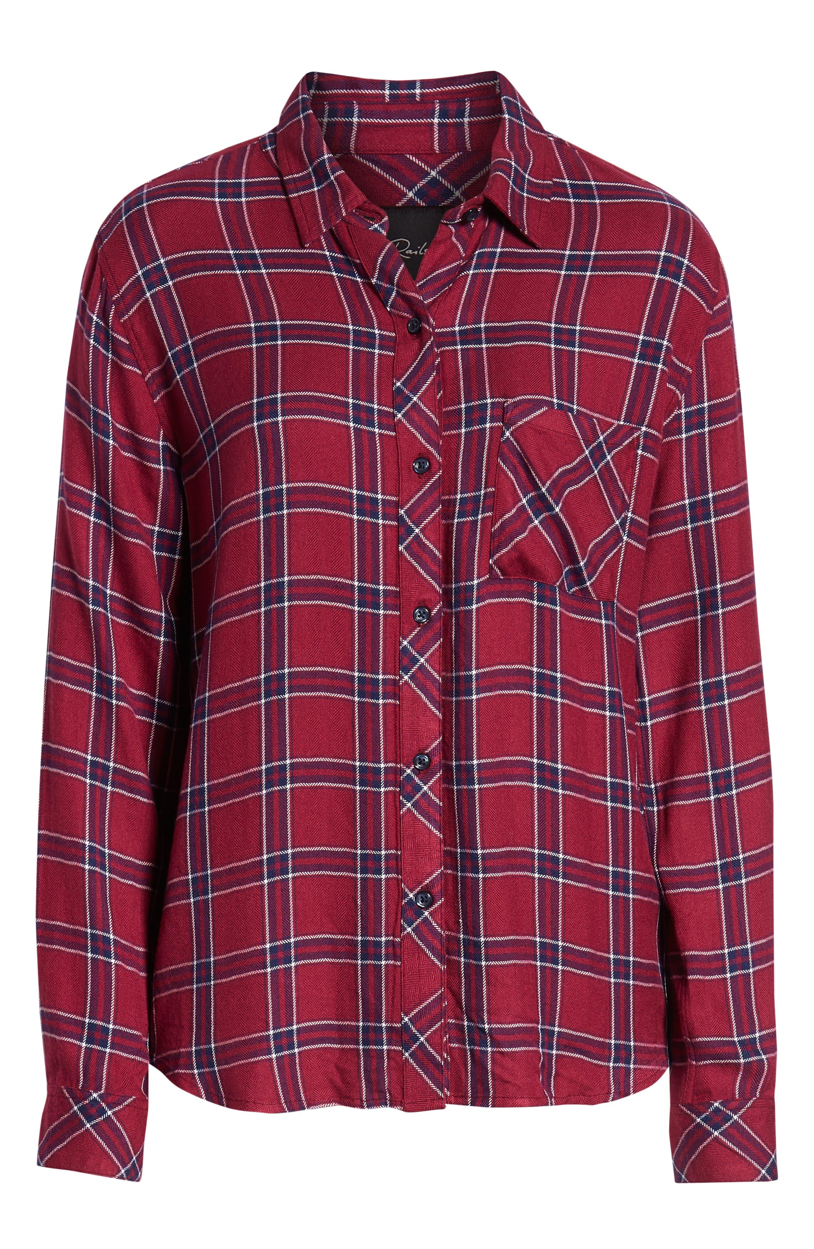 ,                             Hunter Plaid Shirt,                             Alternate thumbnail 34, color,                             935