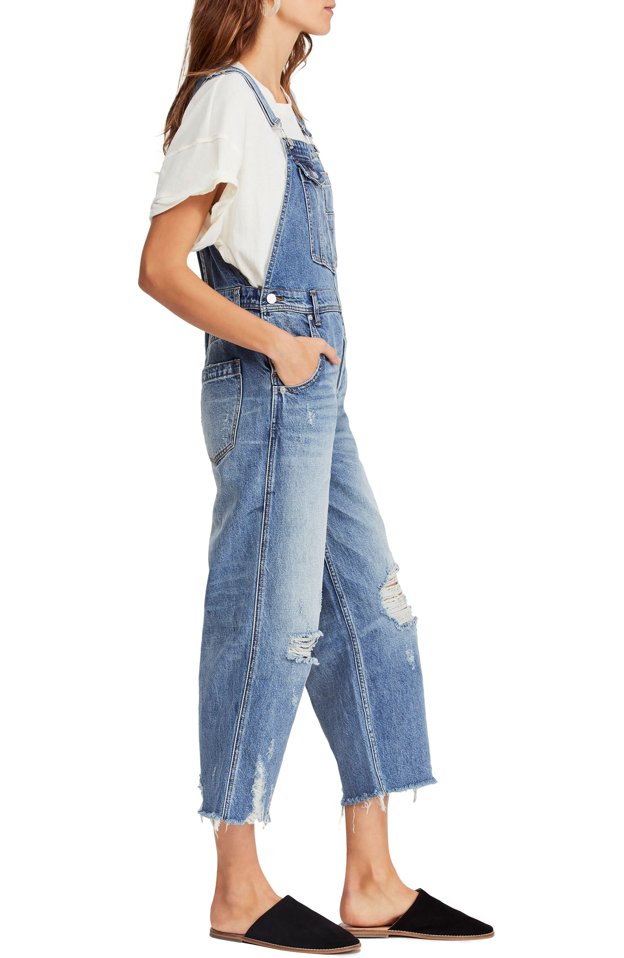 ,                             Baggy Crop Overalls,                             Alternate thumbnail 4, color,                             456