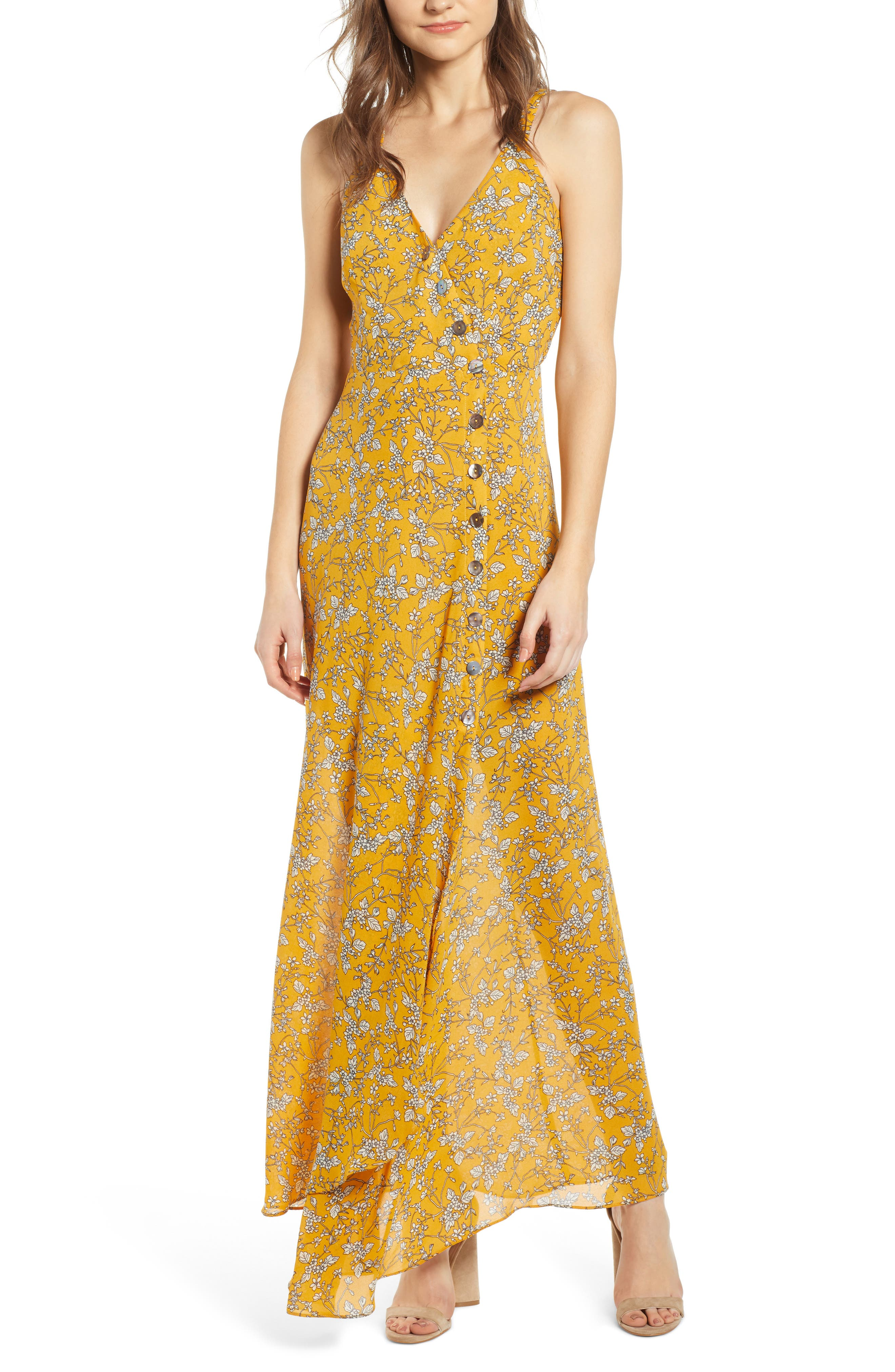 Heartloom Londyn Sleeveless Maxi Dress, Yellow