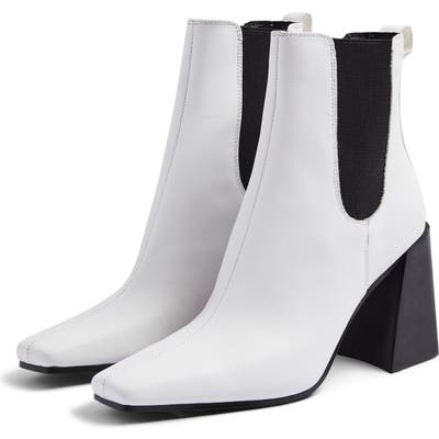 Topshop Harbour Chelsea Boot - White